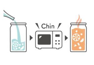 日本酒を注ぎ、蓋をしないで電子レンジで1分間温めると「燗グリア」に!