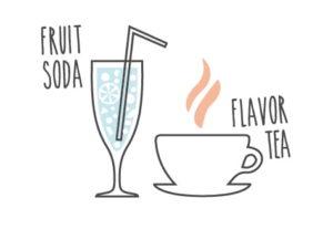 炭酸と果汁を加えてフルーツソーダに。 紅茶に入れればフレーバーティーに。