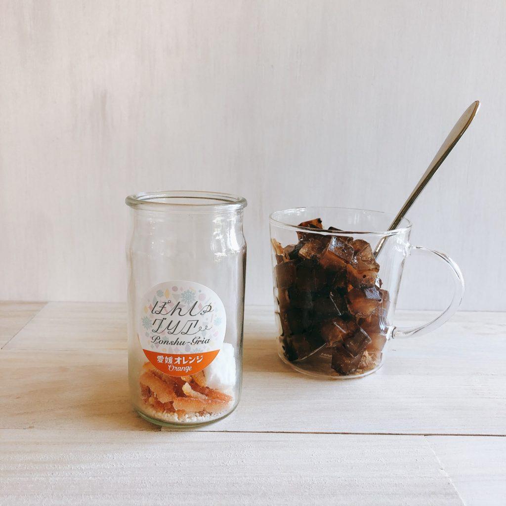 ぽんしゅグリア「愛媛オレンジ」と氷コーヒー