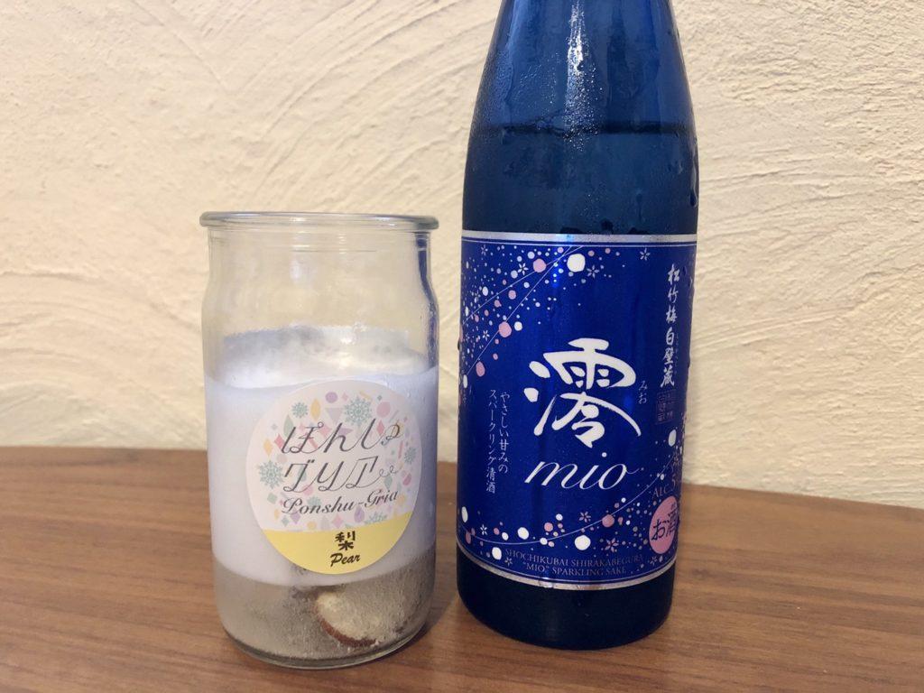 日本酒カクテルの素・ぽんしゅグリア「梨」と澪